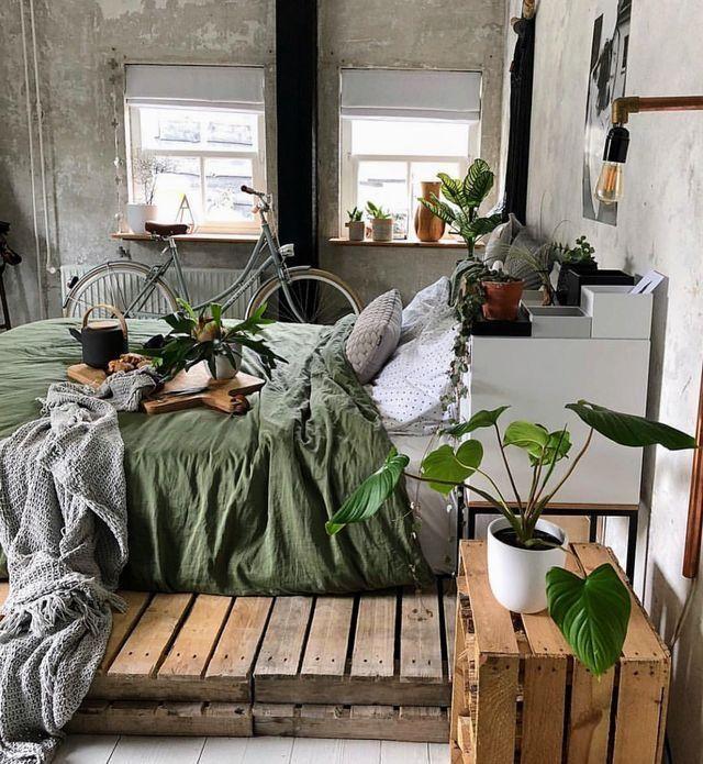 Plants in moody bedroom | Cozy room, Apartment decor, Industrial .