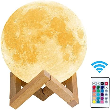 toyuugo Moon lamp (5.9 Inch), 3D Print LED Moon Light Lamp Moon .