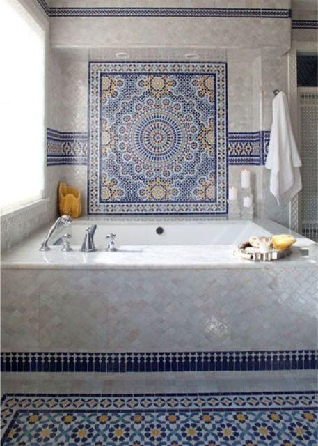 Divine Renovations Moroccan Tiles #Blues #Consistent #Design .