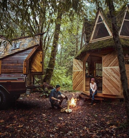 Gallery of This Moss-Covered, Octagonal Micro-Cabin Combines .