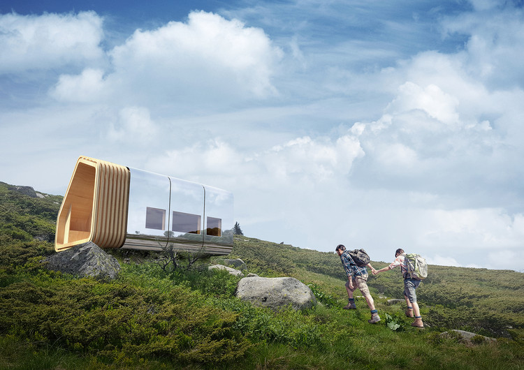 This Modular Mountain Shelter Is Net-Zero and Can Be Delivered via .