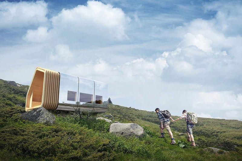 Sustainable Mountain Cabins : smart mountain shelt