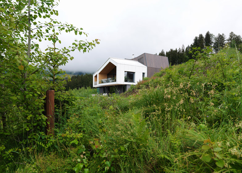 Mountain View House nestles by a hillside in the Austrian Al