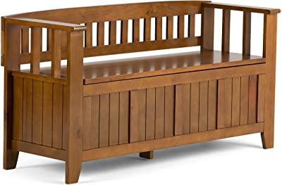 Amazon.com: Simpli Home Adams SOLID WOOD 48 inch Wide Entryway .