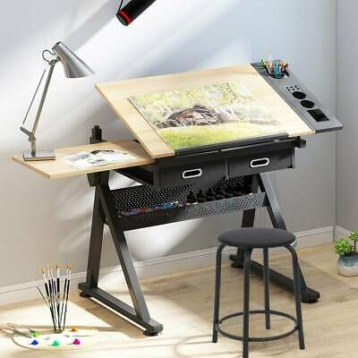 Adjustable Drafting Table Drawing Craft Art Hobby Board Home .