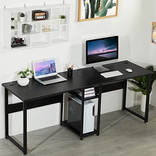 Amazon.com: Sedeta Double Workstation Desk, 78 inches Dual Desk .