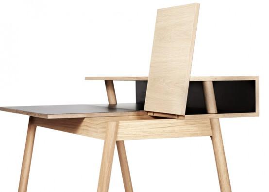Multifunctional Secretary Desk With A Storage Space - DigsDi