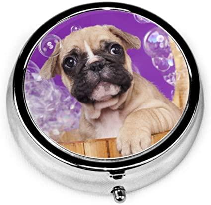 Amazon.com: Pill Organizer Case, French Bulldog Puppies Wooden .