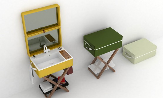 My Bag Washbasin That Turns Into A Portable Case - DigsDi
