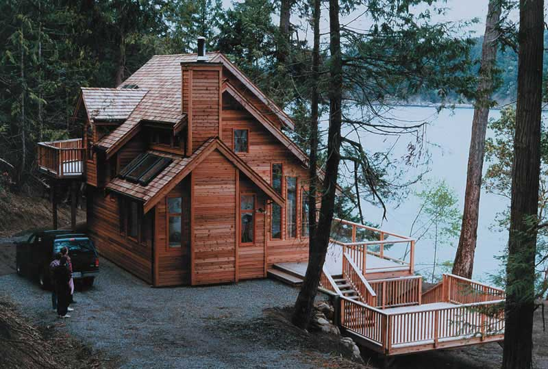 3 Bedroom, 2 Bath Cabin Plan with Sundeck - 1235 Sq