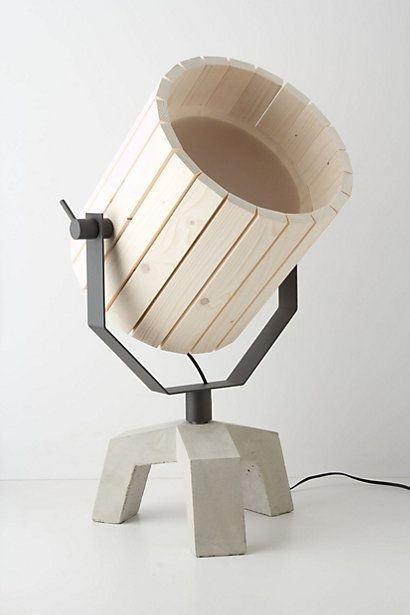 Natural Barrel And Baby Barrel Lamps From Wood And Concrete .