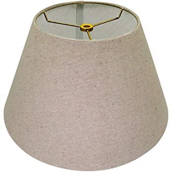 Medium Lamp Shade, Alucset Barrel Fabric Lampshade for Table Lamp .