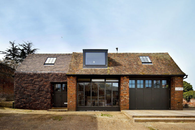 Rustic-Industrial Residence In A Garage Extension - DigsDi