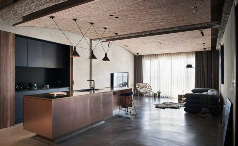 Industrial Residence With Natural Touches And Textures .