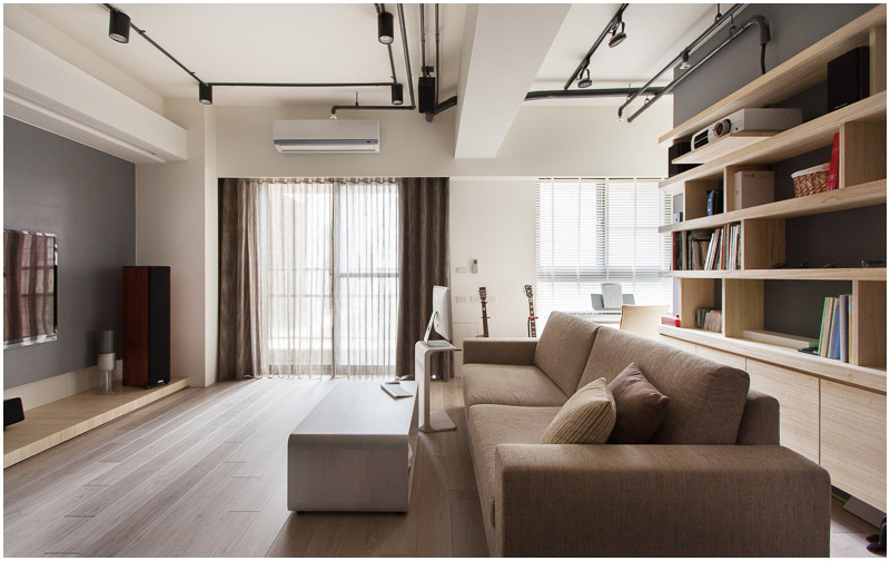 Minimalist Hu Residence of Hsinchu with Natural Wood Throughout .