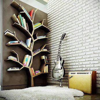 Nature inspired bookshelf | Cool bookshelves, Creative bookshelves .