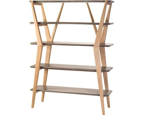 Nature inspired concrete and natural oak wood twigs shelves make .