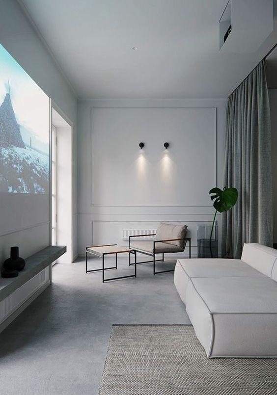 neutral #interior #calm #modern #room #furniture #backdrop .