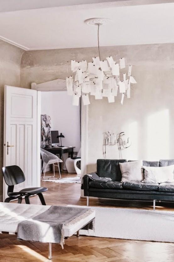 Chic Industrial Apartment In Warm Neutral Shades - DigsDi