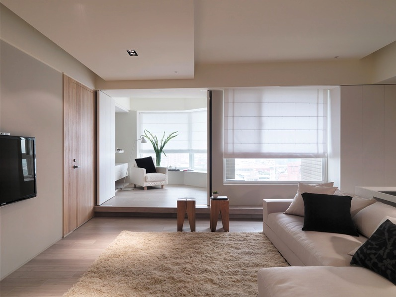 Asian Apartment With Neutral Dec