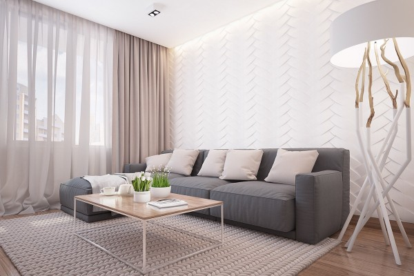 Small Apartment Interior Design With Neutral Color Palette - RooHo