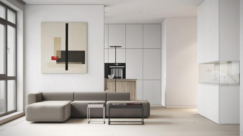 Minimalist Apartment With A Neutral Color Palette - DigsDi