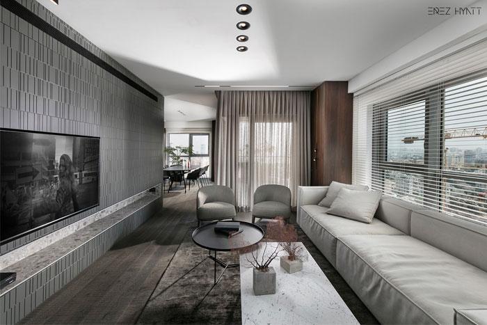 Minimalist Apartment With A Neutral Color Palette by Erez Hyatt .