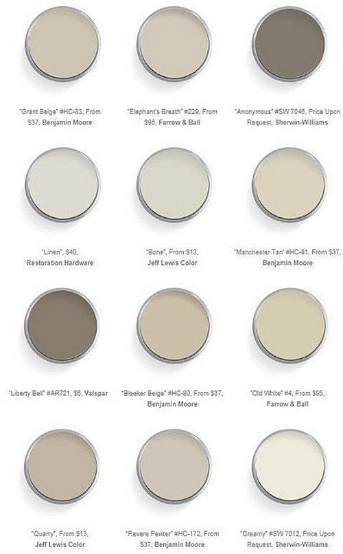 Interior Paint Color and Color Palette Ideas   Best neutral paint .
