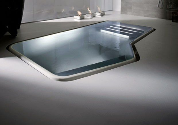 Faraway mini-pool by Ludovica & Roberto Palomba for Zucchetti KOS .