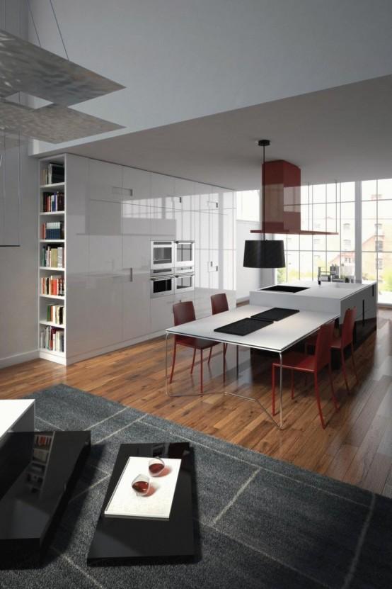 Ernestomeda Carré Kitchen Designed by Marc Sadler. | Modular