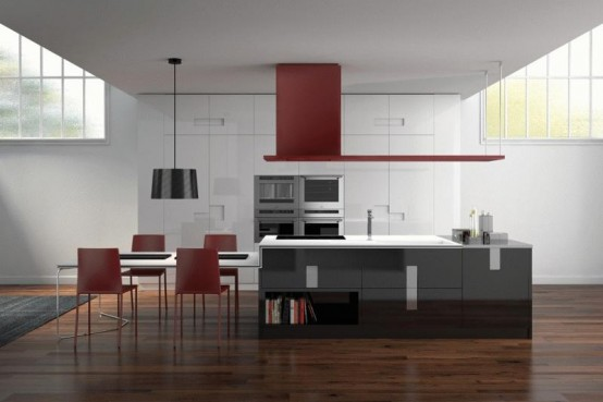New Modern Kitchen Design - Carré by Ernestomeda - DigsDi