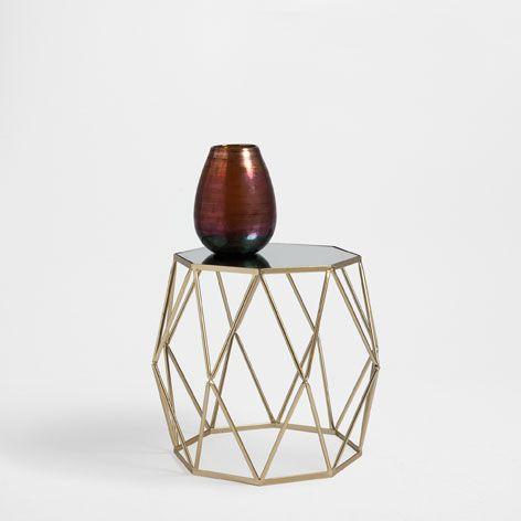 GOLDEN OCTAGONAL TABLE - Occasional Furniture - Decoration | Zara .