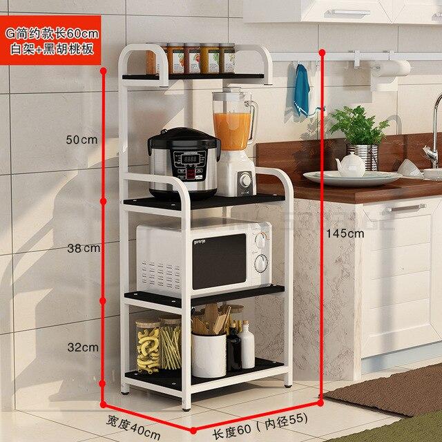 Nordic kitchen narrow slot shelf microwave oven oven shelf floor .