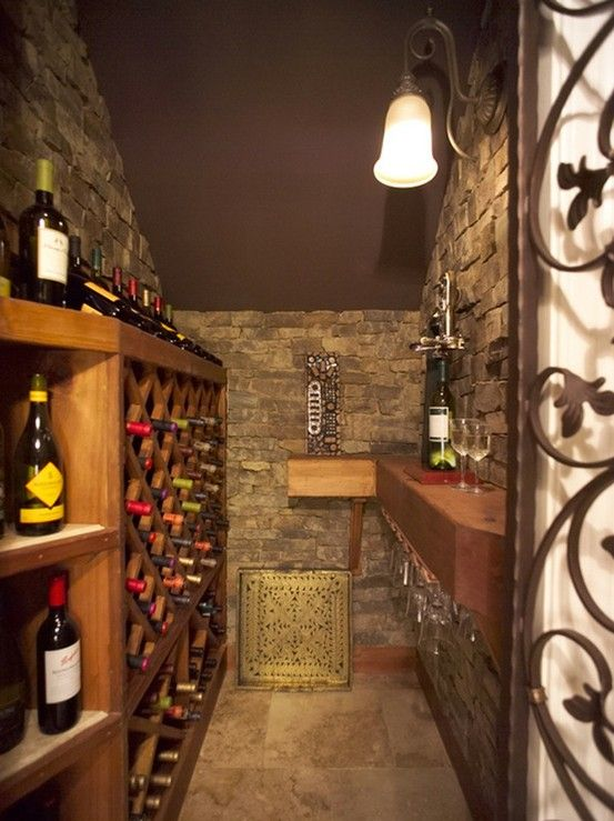 Yes! Closet under the stairs turned into wine cellar | Home wine .