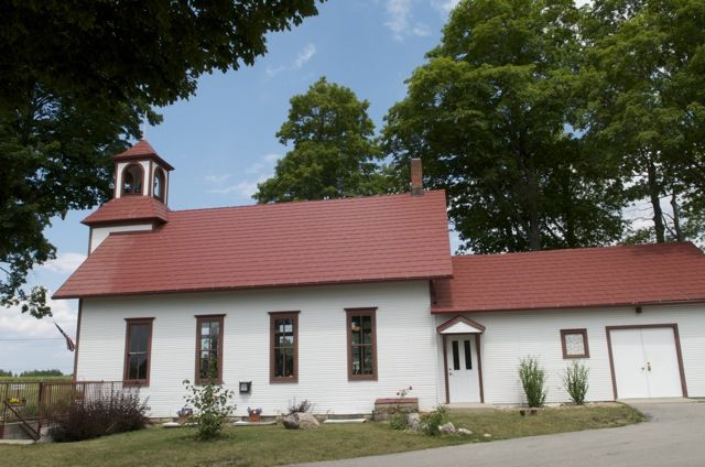 Peninsula Cellars...old schoolhouse turned into a winery...on Old .