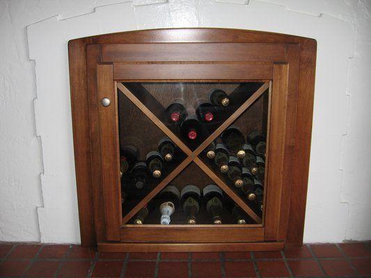 Unused fireplace converted to built-in wine rack. | Yelp | Unused .