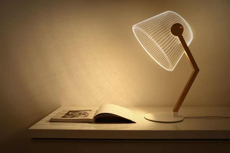 These Lamps Are An Optical Illusion | 3d led lamp, Lamp, Desk la