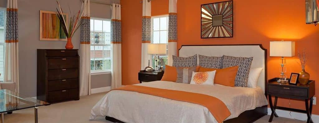 Colors that Go Well with Orange for Interior Design in 20