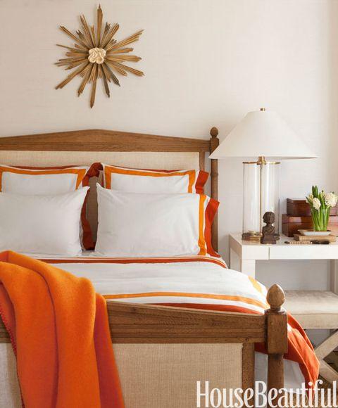 Orange Accent Bedroom - House Beautiful Pinterest Favorite Pins .