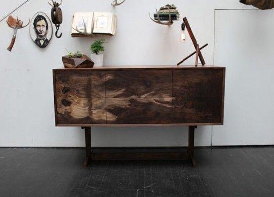 Oregon Black Walnut Furniture With Natural Patterns | DigsDigs .