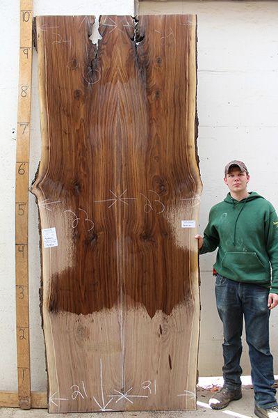 5184m1 Live Edge Bartop Natural Black Walnut Bookmatch Raw Wood .