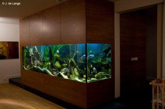 55 Original Aquariums In Home Interiors   Fish tank design .