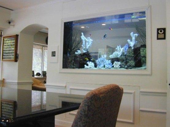 55 Original Aquariums In Home Interiors   Wall aquarium, Fish tank .