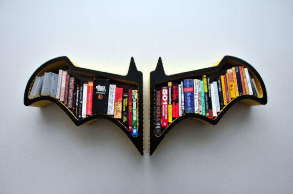Batman Bat-Shaped Bookshelf | Home decoration | Pintere
