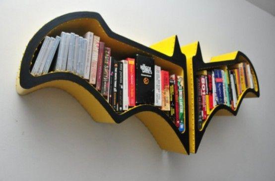Original Batman Bat-Shaped Bookshelf | Cool bookshelves, Batman .