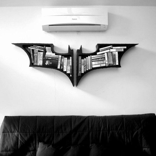 Batman Bat-Shaped Bookshelf | Batman bookshelf, Batman the dark .