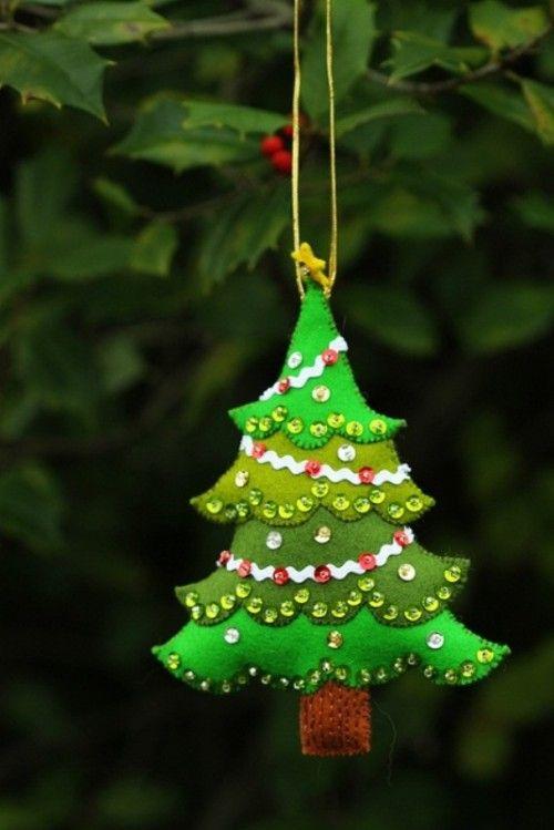 ❤ http://www.digsdigs.com/56-original-felt-ornaments-for-your .