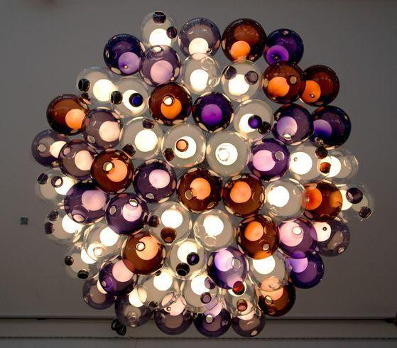 Original design chandelier / glass / blown glass - 28.61 - BOCCI .