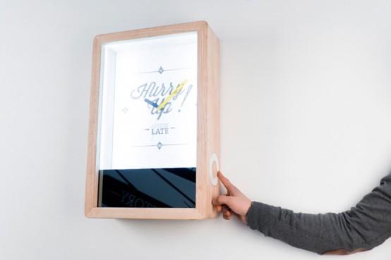 Original Hi-Tech Blink Clock With A Mirror - DigsDi