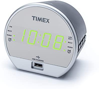 Amazon.com: Timex T2352 Dual Digital Alarm Clock, FM Radio, Built .